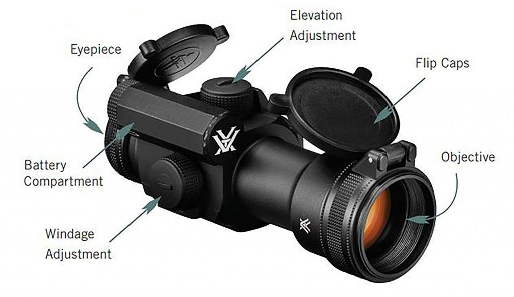 Vortex Optics Strikefire II Red Dot Sight - 4 MOA Red Green Dot with Vortex Hat