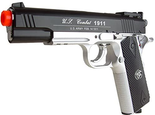 500 FPS NEW WG AIRSOFT FULL METAL M 1911 GAS CO2 HAND GUN PISTOL