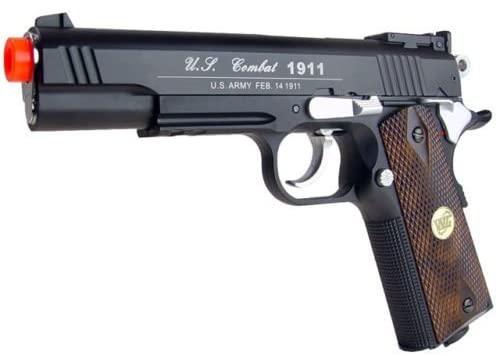 500 fps new full metal wg airsoft m 1911 gas co2 hand gun pistol w/ 6mm bb bbs