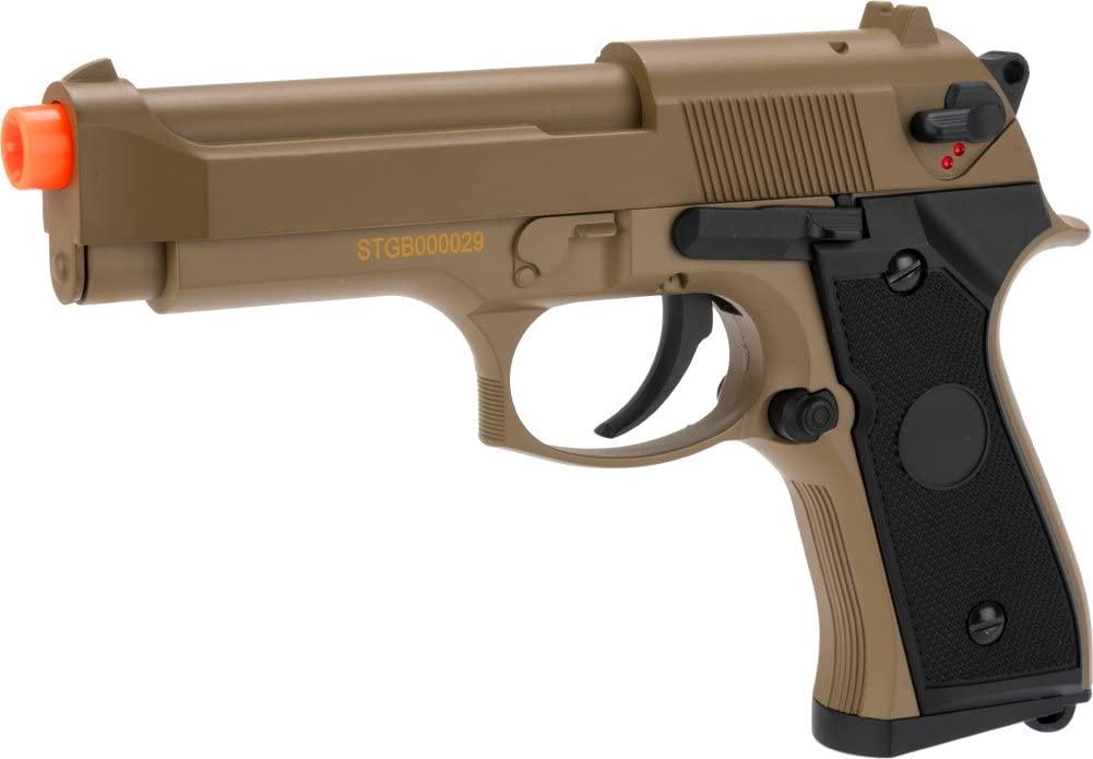 Evike - CYMA Advanced Full Auto Select Fire M9 Airsoft AEP Hand Gun Package